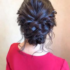 大人かわいい エレガント シニヨン 簡単ヘアアレンジ ヘアスタイルや髪型の写真・画像