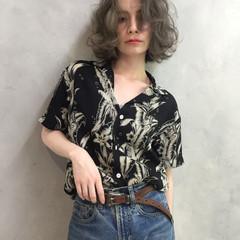 ストリート 外国人風カラー アンニュイ グレージュ ヘアスタイルや髪型の写真・画像