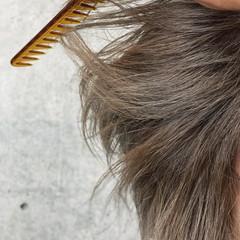 ベージュ ブリーチ ショート メンズカット ヘアスタイルや髪型の写真・画像