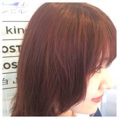 ピンク ボブ 艶髪 イルミナカラー ヘアスタイルや髪型の写真・画像
