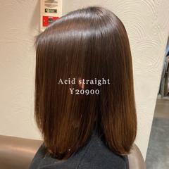 髪質改善 艶髪 縮毛矯正 ナチュラル ヘアスタイルや髪型の写真・画像