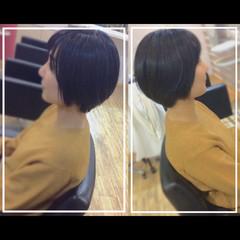 大人ヘアスタイル まとまるボブ ショートボブ ショートヘア ヘアスタイルや髪型の写真・画像