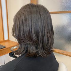 ナチュラル 切りっぱなしボブ 外ハネボブ ボブ ヘアスタイルや髪型の写真・画像