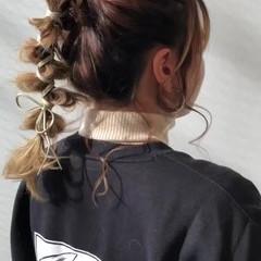 ヘアセット フェミニン ロング 簡単ヘアアレンジ ヘアスタイルや髪型の写真・画像