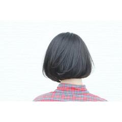 ナチュラル ボブ 抜け感 ワンレングス ヘアスタイルや髪型の写真・画像