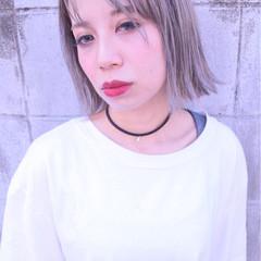 ホワイト ホワイトアッシュ ハイトーン 外国人風 ヘアスタイルや髪型の写真・画像