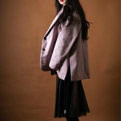 ロング 大人かわいい モード 黒髪 ヘアスタイルや髪型の写真・画像