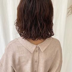 ナチュラル ボブ ショートヘア インナーカラー ヘアスタイルや髪型の写真・画像