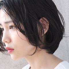 透明感 ショート 大人女子 黒髪 ヘアスタイルや髪型の写真・画像