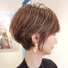 ショートカット ショートボブ ショートヘア 40代 ヘアスタイルや髪型の写真・画像