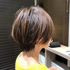 ミニボブ ショートボブ ベリーショート インナーカラー ヘアスタイルや髪型の写真・画像