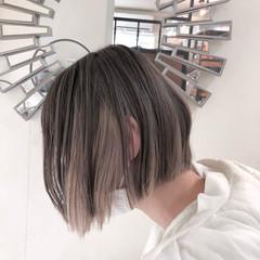 ハイトーンカラー ナチュラル ボブ ハイトーンボブ ヘアスタイルや髪型の写真・画像