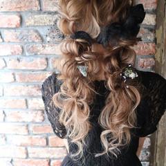 結婚式 ロング フェミニン パーティ ヘアスタイルや髪型の写真・画像