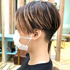 モード ベリーショート ショート ショートボブ ヘアスタイルや髪型の写真・画像