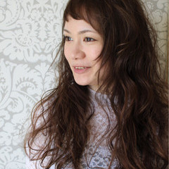 くせ毛風 ナチュラル ロング 外国人風 ヘアスタイルや髪型の写真・画像