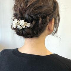 大人女子 ナチュラル アンニュイほつれヘア 結婚式 ヘアスタイルや髪型の写真・画像