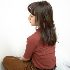 透明感 前髪あり セミロング 秋 ヘアスタイルや髪型の写真・画像