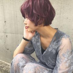 おフェロ 外国人風カラー ラベンダーピンク 透明感 ヘアスタイルや髪型の写真・画像