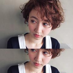 ナチュラル 外国人風 パーマ ショート ヘアスタイルや髪型の写真・画像