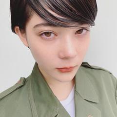 外国人風 ショート 暗髪 大人かわいい ヘアスタイルや髪型の写真・画像