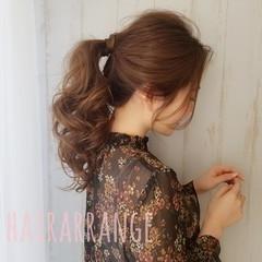 簡単ヘアアレンジ 結婚式ヘアアレンジ ナチュラル ロング ヘアスタイルや髪型の写真・画像