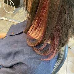 ブリーチ必須 ブリーチカラー 簡単ヘアアレンジ ミディアム ヘアスタイルや髪型の写真・画像