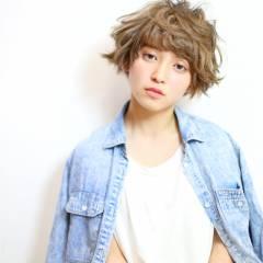 愛され ショート モテ髪 ガーリー ヘアスタイルや髪型の写真・画像