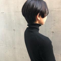 ヘアアレンジ 黒髪 モード 艶髪 ヘアスタイルや髪型の写真・画像