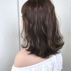 秋 ミディアム 透明感 外国人風カラー ヘアスタイルや髪型の写真・画像