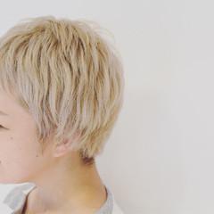 小顔 ベリーショート 似合わせ モード ヘアスタイルや髪型の写真・画像