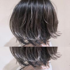ストリート 外国人風カラー グレージュ ボブ ヘアスタイルや髪型の写真・画像