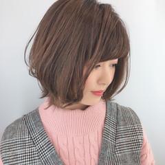 美シルエット 小顔 ボブ 小顔ショート ヘアスタイルや髪型の写真・画像