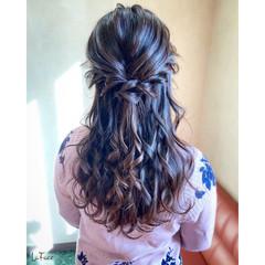 エレガント 結婚式 ロング パーティ ヘアスタイルや髪型の写真・画像