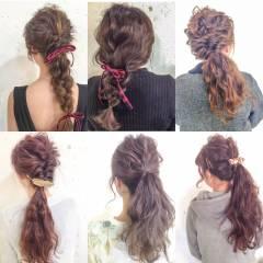 アップスタイル ヘアアレンジ ストリート ウェーブ ヘアスタイルや髪型の写真・画像