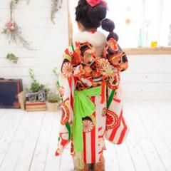 ヘアアレンジ 個性的 子供 和装 ヘアスタイルや髪型の写真・画像