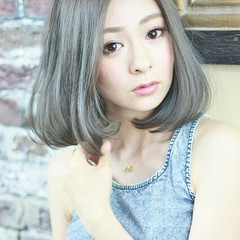 アッシュ 外国人風 ハイライト ガーリー ヘアスタイルや髪型の写真・画像
