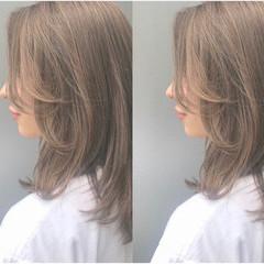 ナチュラル ハイライト ラベンダーアッシュ 外国人風 ヘアスタイルや髪型の写真・画像