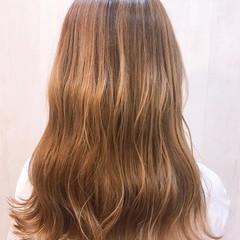 オレンジカラー ヘアカラー イルミナカラー ロング ヘアスタイルや髪型の写真・画像