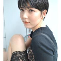ショートヘア 黒髪ショート ショートボブ ベリーショート ヘアスタイルや髪型の写真・画像