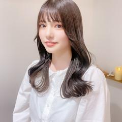 ナチュラル ミルクティーグレージュ ブリーチなし 韓国ヘア ヘアスタイルや髪型の写真・画像