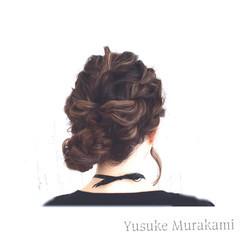 外国人風 大人かわいい くるりんぱ ヘアアレンジ ヘアスタイルや髪型の写真・画像