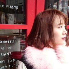 ストリート 大人かわいい ピンク レッド ヘアスタイルや髪型の写真・画像