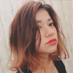 ハイライト 色気 外国人風 ボブ ヘアスタイルや髪型の写真・画像