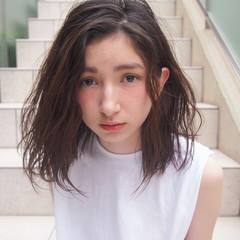 アッシュ 外国人風 ウェットヘア ボブ ヘアスタイルや髪型の写真・画像