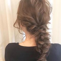 編みおろし 編みおろしヘア 簡単ヘアアレンジ ヘアアレンジ ヘアスタイルや髪型の写真・画像