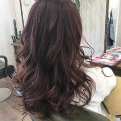 ナチュラル ロング ピンク 大人かわいい ヘアスタイルや髪型の写真・画像