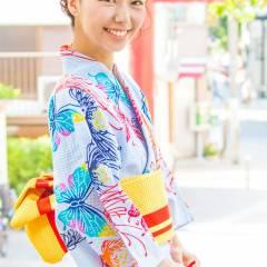 着物 ヘアアレンジ ガーリー 夏 ヘアスタイルや髪型の写真・画像