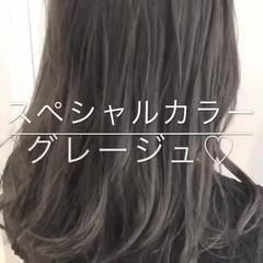セミロング 大人かわいい 透明感 渋谷系 ヘアスタイルや髪型の写真・画像
