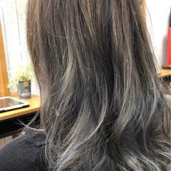ハイライト 大人かわいい アッシュ 冬 ヘアスタイルや髪型の写真・画像