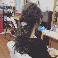 デート 結婚式 ヘアアレンジ ロング ヘアスタイルや髪型の写真・画像